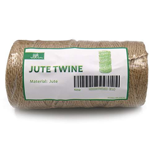 jijAcraft 100M Cuerda de Yute Cordel de Yute 1mm para Decoración Artesanía Bricolaje Jardinería