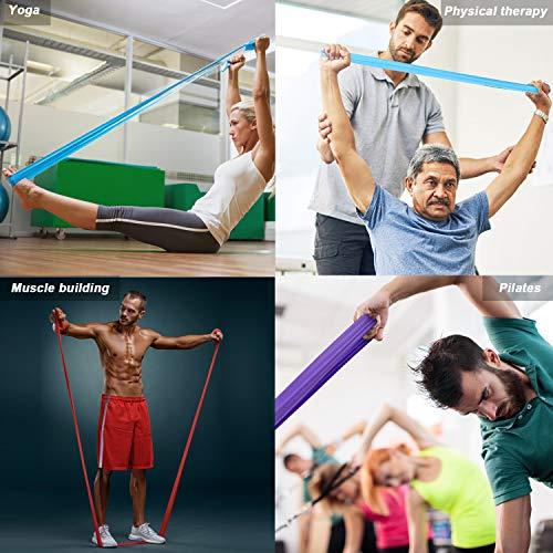 JIM'S STORE Bandas de Resistencia Fitness Cintas Elásticas de Resistencia Set de 3 Bandas para Yoga, Crossfit, Entrenamiento de Fuerza y Pilates