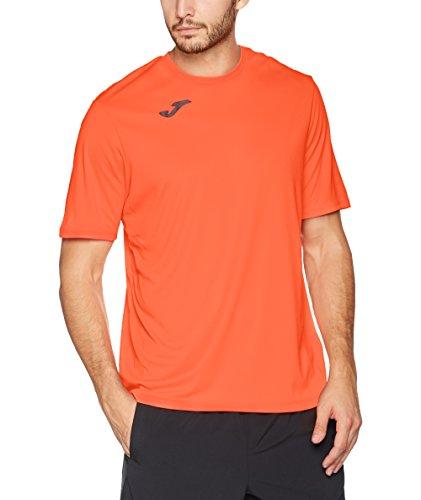 Joma - Camiseta combi coral fluor m/c para hombre, Naranja (Coral), L