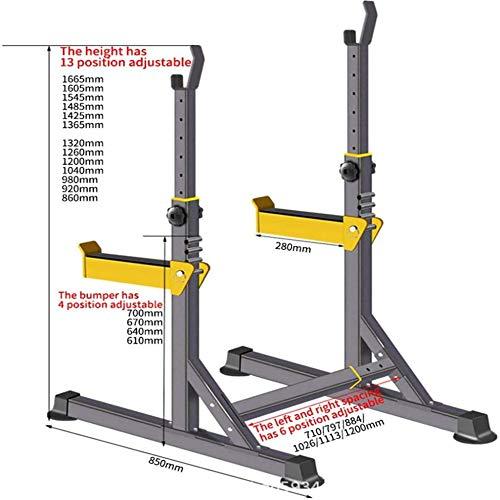 jooe Fitness Ajustable Rack En Cuclillas Barbell Rack Press De Banca Equipo De Entrenamiento Adecuado para Hacer Ejercicio En Casa