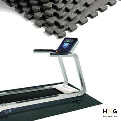 JOWY Esterilla de Espuma Fitness Suave. Tatami Puzzle Negro 60x60cm. Máxima protección para tu Suelo. Fácil Limpieza y con Bordes incluidos. (Negro, 4 pcs (1.44m2))