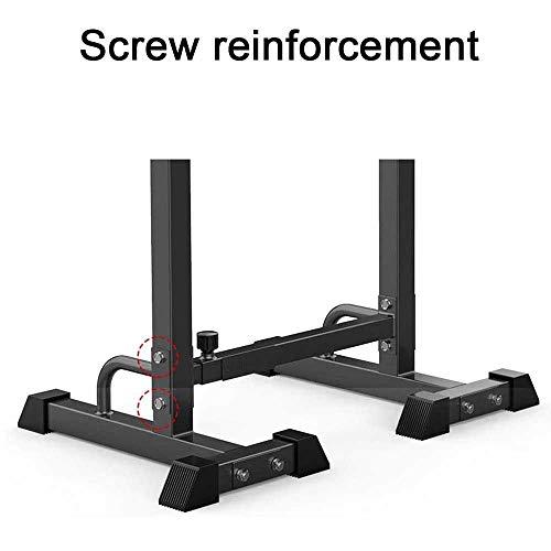 JRFWD Rack con Mancuernas para Sentadillas Multifuncional Barbell Levantamiento de Pesas Cama Plegable el hogar crujidos Banco