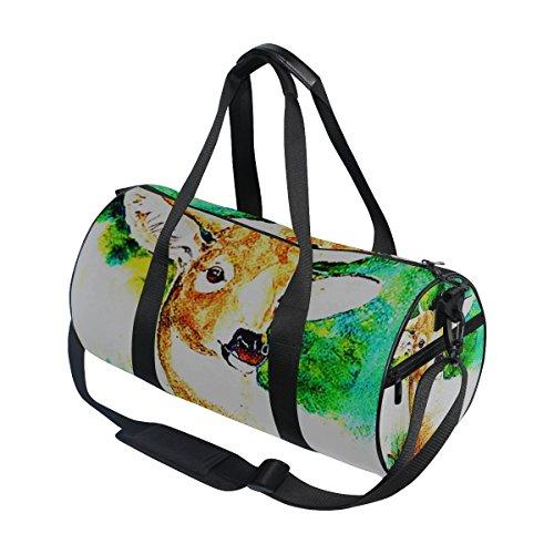 jstel ciervo verde Fores bolsa de deporte gimnasio para hombres y mujeres bolsa de viaje de viaje