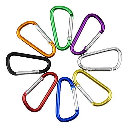 Juego de 8 Cuerda de Pesca espiral de cuerda de pesca con mosquetón, cable de seguridad elástico Alambre Cordones de acero Pesca para aparejos de pesca, pesca, remo, herramienta para peces, kayak