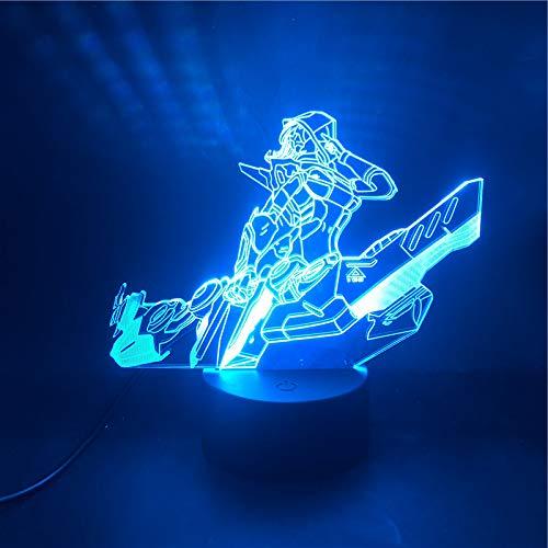 Juego de moda de iluminación 3D Parkour Boys Mejor regalo de cumpleaños Reloj despertador Ambiente básico Colorido USB LED Luz nocturna