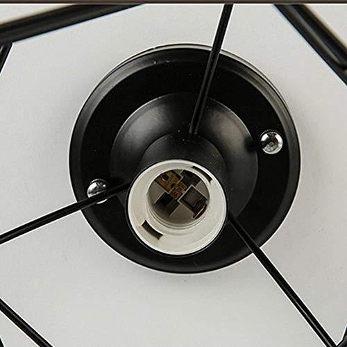 JXQ Cars Luz de Techo de diseño Retro Estilo Industrial de la Vendimia de Las Luces de Techo en Negro Jaula de Hierro Menaje para Hall, Bar, Cocina, salón, Cuarto de niños Outlet cenar,Black
