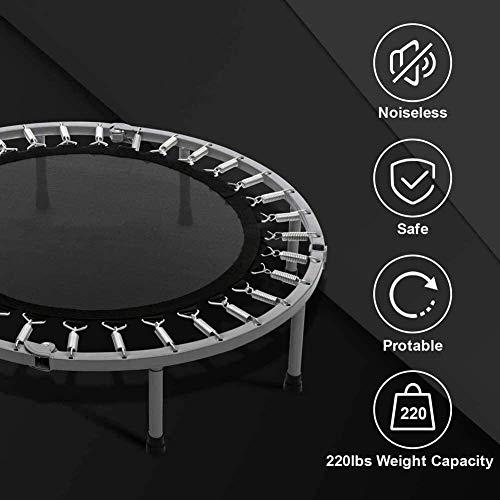 kaige Suge Plegable niños Mini trampolín, Fitness Rebounder con el lechón, diámetro de 40 Pulgadas, 150 kg de Peso límite de Salto Mat for Chidren WKY
