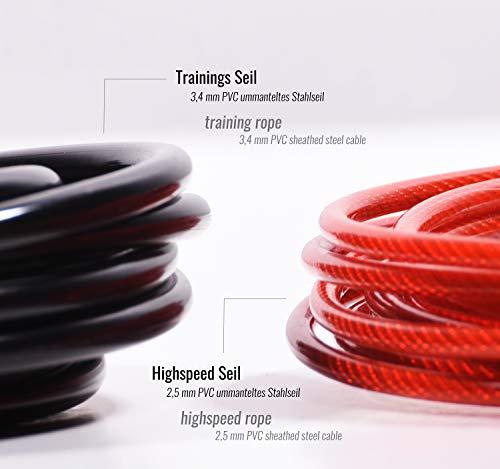 Kangaroo Fitness - Cuerdas de Repuesto 2 Piezas para Saltar la Cuerda…