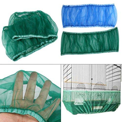 Kangql Nylon Mesh Ventilated Bird Cage Cover A Prueba De Polvo Shell Seed Catcher Pet Product - White M