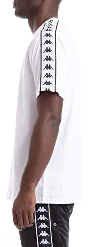 Kappa Hombre Camiseta 222 Banda Coen, Blanco, Medium
