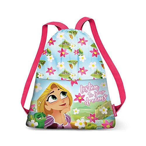 Karactermania Rapunzel Listen-Strap Drawstring Bag (Small) Bolsa de Cuerdas para el Gimnasio, 35 cm, Verde (Green)