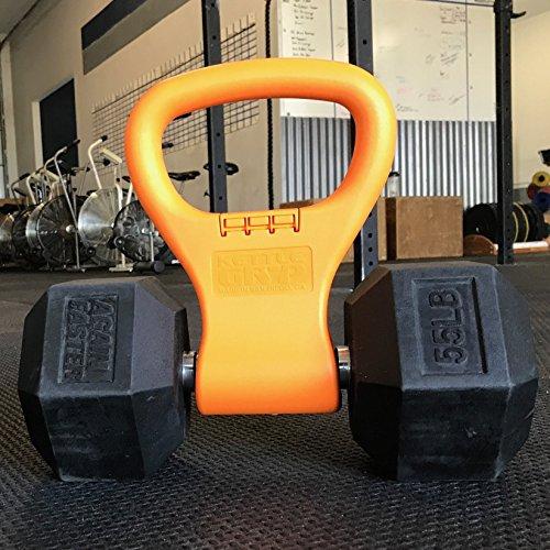 Kettle Gryp - Agarre para Kettlebell, Mancuernas, Pesas Rusas - Portátil Ajustable - Equipamiento de Musculación, Fitness, Culturismo Ergonómico Ligero