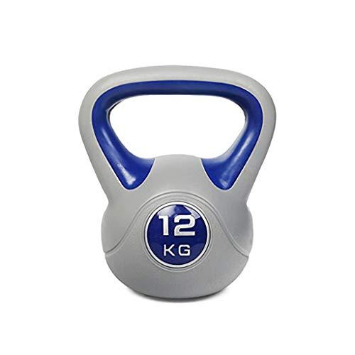 Kettlebell Fitness, equipos de gimnasia deportiva para hombres y mujeres 2KG - 20KG Hierro fundido Ejercicio en el hogar Ejercicio de fuerza Entrenamiento Neopreno Kettle Bell,12kg