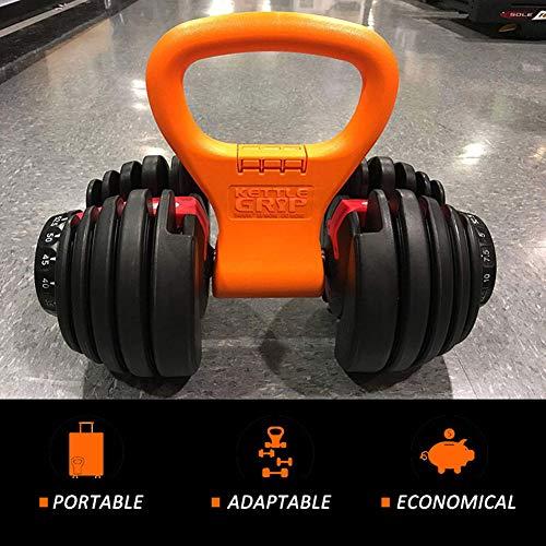 Kettlebell Grip Equipo de Entrenamiento portátil de Viaje con Peso Ajustable Equipo para Pesas de Gimnasio Bolsa, Crossfit WOD, Levantamiento de Pesas, Culturismo, Bajar de Peso