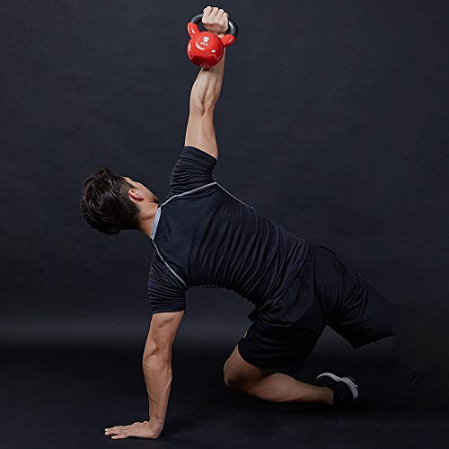 Kettlebell Oscilante Pesas Rusas de Hierro Fundido Ideal para Entrenamiento de Fuerza Mancuerna para Musculación 2KG 4KG 6KG