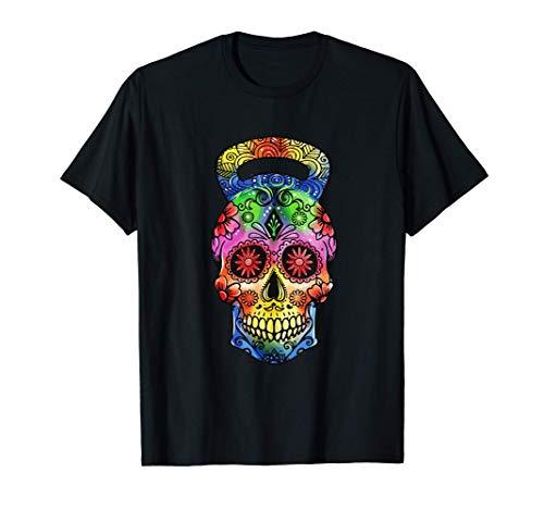 Kettlebell Sugar Skull Ejercicio de levantamiento de pesas Camiseta