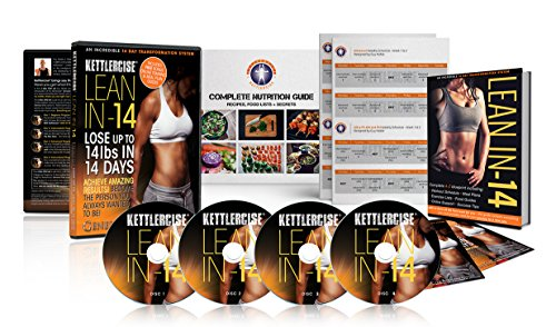 Kettlercise Lean-IN-14 Kettlebell DVD 4 Disc Collection NEW FOR 2016 FROM BEGINNER TO ADVANCED [2016] [DVD]