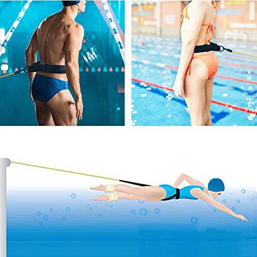 KIKILIVE Cinturón de natación para Exteriores, cinturón de Entrenamiento de natación, cinturón de Resistencia para natación, Cuerda elástica Duradera para Entrenamiento de Piscina