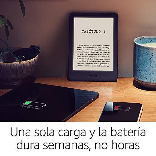 Kindle, ahora con luz frontal integrada, negro