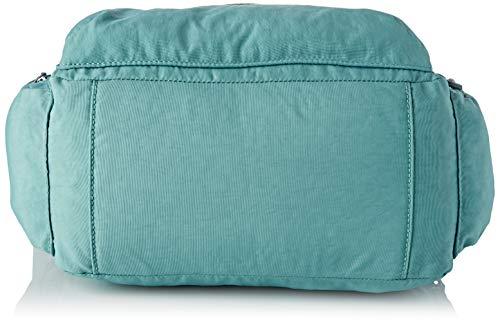 Kipling - Gabbie, Bolsos bandolera Mujer, Azul (Aqua Frost), 35.5x30x18.5 cm (B x H T)
