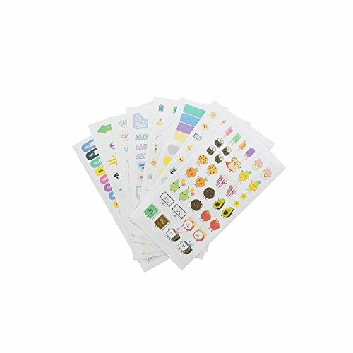 Kit para personalizar y alegrar tu agenda Mr. Wonderful, multicolor, 15X25X1