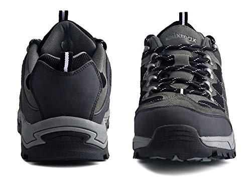 Knixmax-Zapatillas de Montaña para Mujer, Zapatos de Senderismo Calzado de Trekking Escalada Aire Libre Zapatos Low-Top Impermeable Antideslizante Zapatos de Trekking (Marrón, Gris) Grey-8
