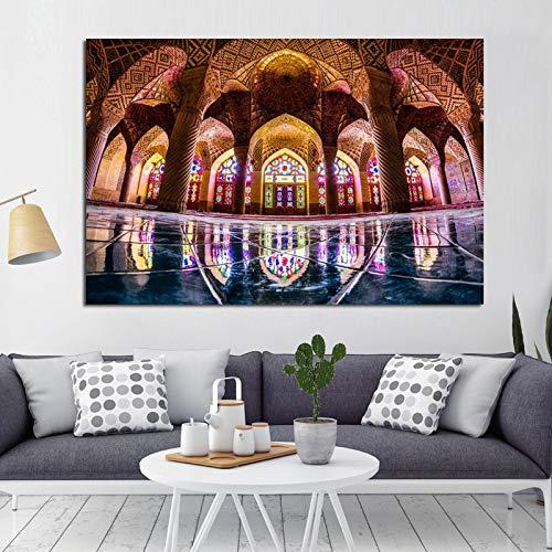 KWzEQ La Meca Arquitectura Islámica Imagen Arte Impresiones y Carteles Mezquita Paisaje Pintura sobre lienzo30X45cmPintura sin Marco