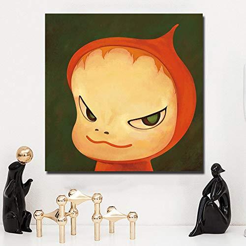 KWzEQ Pintura de Dibujos Animados muñeca Lienzo Arte impresión póster Imagen bebé habitación decoración de la Pared decoración del hogar,Pintura sin Marco,50X50cm