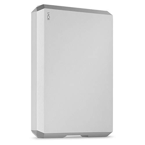 LaCie Mobile Drive, 2TB, Disco duro externo HDD portátil, plata, USB-C, USB 3.0, Thunderbolt 3, para Mac, PC, ordenador de sobremesa, estación de trabajo y ordenador portátil (STHG2000400)