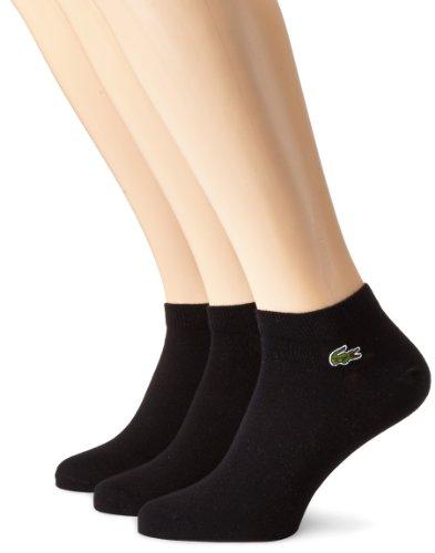 Lacoste RA1163-00 Calcetines cortos para hombre, Negro, 40-46 ( Talla fabricante: 6), Pack de 3