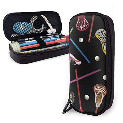 Lacrosse - Estuche para lápices para niños y niñas, estuche grande para bolígrafos, para estudiantes, universidad, material escolar y oficina