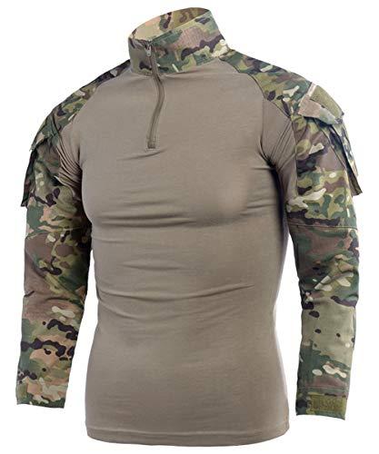 LANBAOSI - Camiseta táctica de manga larga para hombre