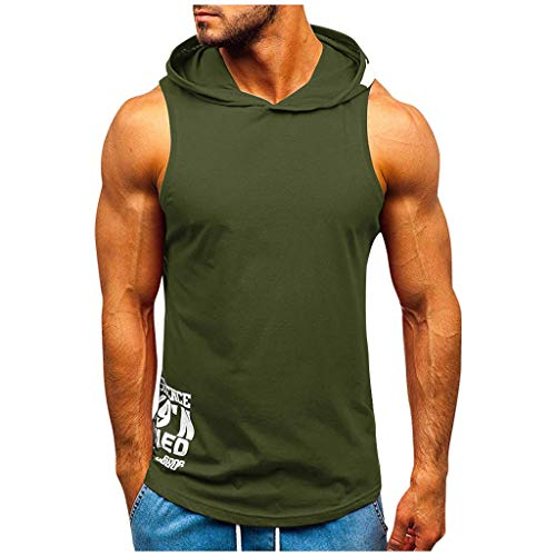 LANSKRLSP Hombres Sudadera con Capucha Ropa Fitness Camisetas de Hombre 2020 Tallas Grande Ropa de Gimnasio Deporte Jogging Trabajo Camisa Top S-2XL