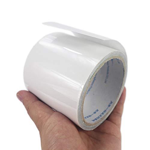 LANUCN Cinta de reparación de Carpa Cinta Adhesiva Transparente Resistente de 5 m para Carpas/toldos/glorietas/paños Recubiertos de PVC (8cm x 5m)