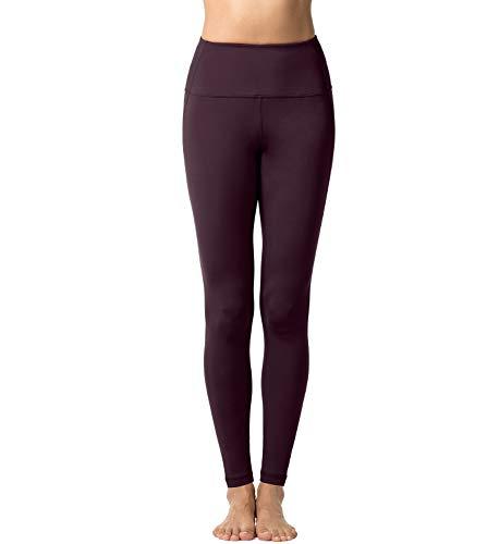 LAPASA Pantalón Deportivo de Mujer, Malla para Running, Yoga y Ejercicio. L01 (4.Burdeos, S)