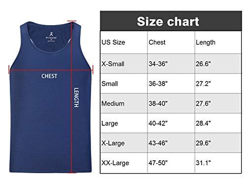 Lavenicole 3 unidades de camisetas para hombre, ajuste seco, muscular, culturismo, fitness -  Multi color -  Large
