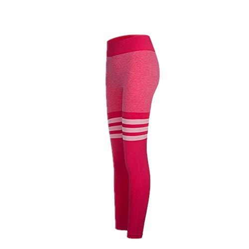 Leggins deportivos sexy para mujer, de color melocotón, cintura alta, pantalones deportivos, sin costuras, transpirables, para yoga, fitness