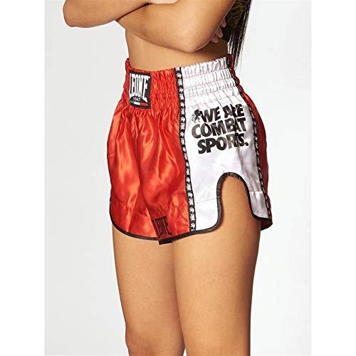 LEONE 1947 AB760 Pantalones Cortos de Kick-Thai, Unisex – Adulto, Rojo, M