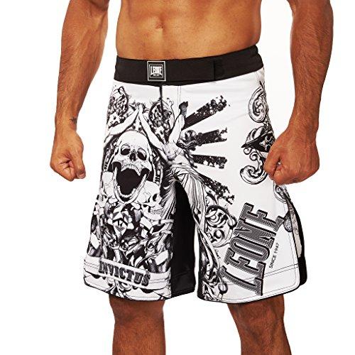 Leone 1947 AB791 Pantalones Cortos de MMA, Unisex – Adulto, Blanco, L