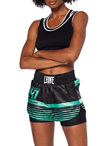 Leone 1947 AB800 Pantalones Cortos de Kick-Thai, Mujer, Verde, S