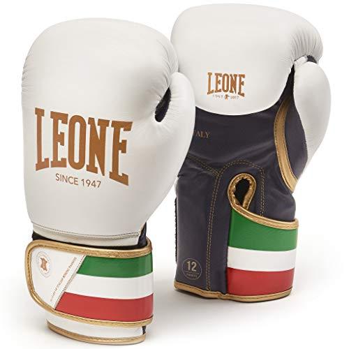 LEONE 1947 GN039 Guantes de Boxeo, Unisex – Adulto, Blanco, 14OZ