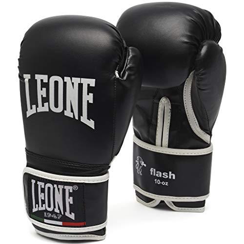 LEONE 1947 Guantes de Boxeo, Modelo Flash Negro Negro Talla:10 Oz