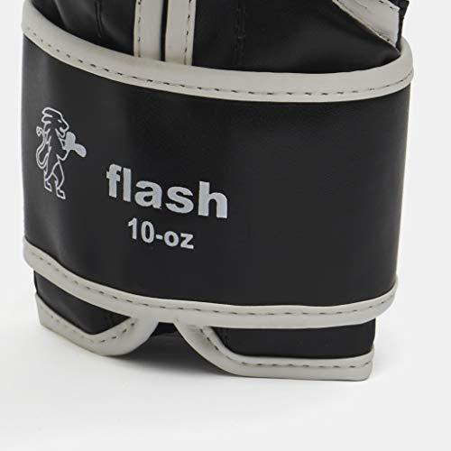 LEONE 1947 Guantes de Boxeo, Modelo Flash Negro Negro Talla:12 Oz