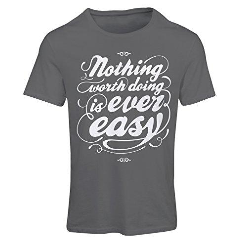 lepni.me Camiseta Mujer Citas de motivación para la Vida - Vintage Inspirado Refranes Divertidos (Large Grafito Multicolor)