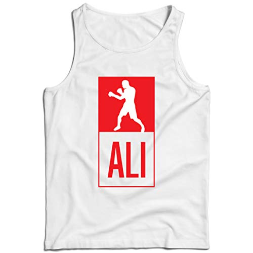 lepni.me Camisetas de Tirantes para Hombre Equipo de Entrenamiento Combate De Boxeo Ropa de Ejercicio y Fitness (XXX-Large Blanco Multicolor)