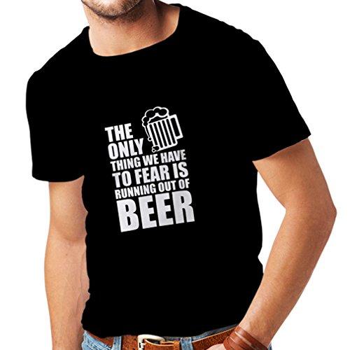 lepni.me Camisetas Hombre Tener Miedo de no Tener una Cerveza - para la Fiesta, Bebiendo Camisetas (XX-Large Negro Fluorescente)