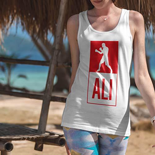 lepni.me Camisetas sin Mangas para Mujer Equipo de Entrenamiento Combate De Boxeo Ropa de Ejercicio y Fitness (Small Azul Multicolor)