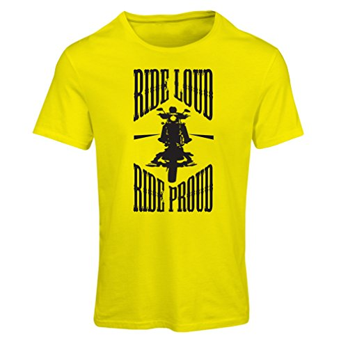 lepni.me N4695F Camiseta Mujer Ride Loud! (XX-Large Amarillo Multicolor)