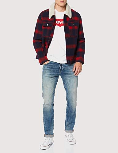 Levi's Graphic Set-In Neck, Camiseta para Hombre, Blanco (C18978 Graphic H215-Hm White Graphic H215-Hm 36.4 140), Small
