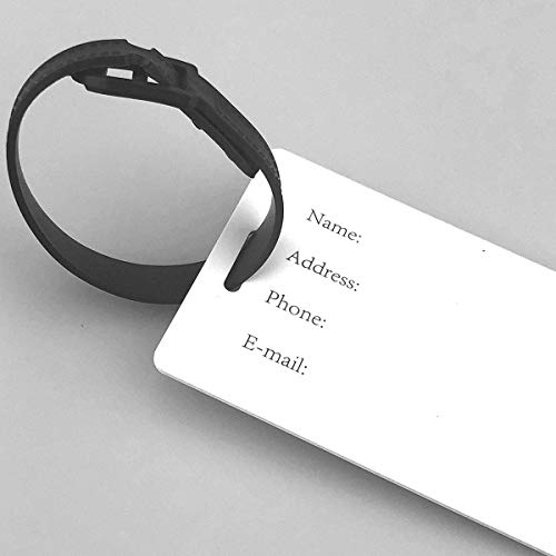 liang4268 Etiquetas de Equipaje Kettlebell Heartbeat Luggage Tags Suitcase Labels Travel Bag Labels Unique Design Business Card Holder for Baggage for Baggage Suitcase Tags Bulk